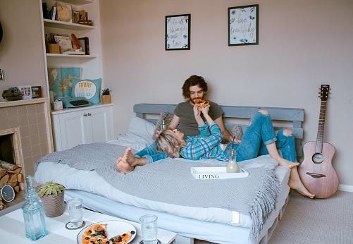 Couple Living in Studio Apartment